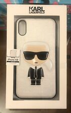 Genuine KARL LAGERFELD iPhone XR Case Iconic Full Body Chanel Designer Silver