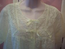 Vintage Ladies Shadowline Lace Robe Small #224