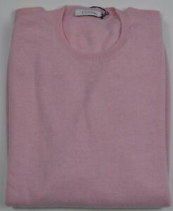 Cruciani Pure Cashmere Pink Crewneck Sweater XXL (58) Made in Italy