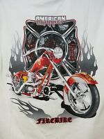 American Chopper Fire Bike Mens T Shirt Medium Motorcycle New