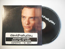 DAVID HALLYDAY : SATELLITE / LE DÉFI - EDITION LIMITEE ♦ CD SINGLE ♦