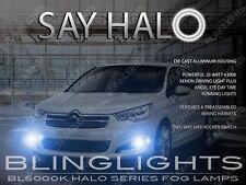 2013 2014 2015 Citroen C4 L Halo Fog Lamps Angel Eye Driving Light Kit + Harness