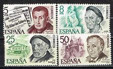 Spain Famous People set 1978 MNH