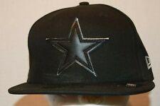 Dallas Cowboys New Era 59FIFTY Black Baseball Star Hat Cap Multi Sizes