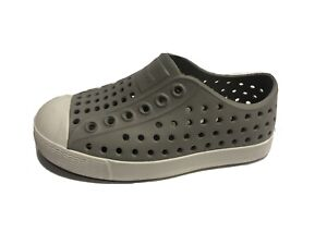 Native, Jefferson, Little Boy's Size 7M Grey Slip On Shoes
