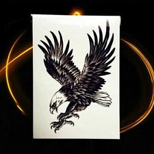 Una volta Flash temporary Adesivo Tatuaggio Aquila Nero Corpo Body Sticker Regalo