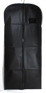 """54"""" Suit Cover Bags Mens Garment Breathable Travel Zipped Long Dress Covers Bag"""