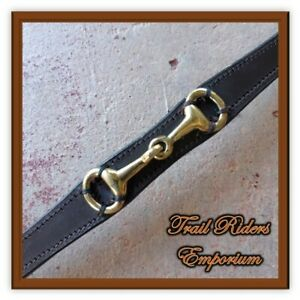 Horse BROW BAND Cob/Pony Brown Leather with Gold BIT Detail Jeremy Lord 32cm