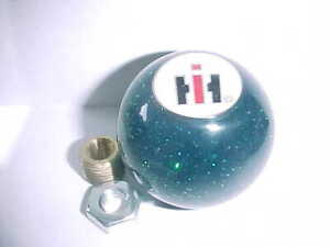 "IH, International Harvester, 60's - 70's style glitter  2"" Shift Knob, (Green)"