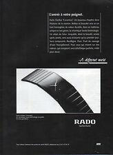 Publicité Advertising 1993  Montres  RADO  DiaStar ' Ceramica '