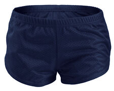 Navy SOFFE Teeny Tiny Mesh Running/Cheer/Beach Short Shorts Juniors Extra Small