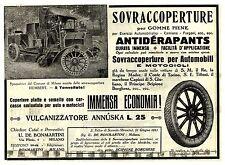 PUBBLICITA' SOVRACOPERTURE GOMME PIENE ANTIDERAPANTS SPAZZATRICE HUMBERT 1915
