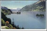 Iseltwald am Brienzersee Schweiz AK 1912 Blick auf den See mit Niesenkette