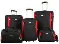 Merax Newest 5 Piece Luggage Set Softshell Luxury Expandable Rolling Suitcase