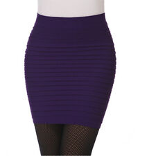 Women Ladies Slim A-Line Mini Wrap Skirt Pencil Pleated Bodycon Dress Work Club