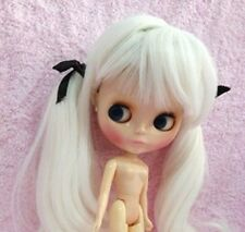 NEO BLYTHE White Long Wig with Black Laces (MELENA PELUCA CUSTOM). BRAND NEW!