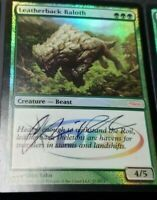 1x Leatherback Baloth - Foil - WPN Promo DCI - NM SIGNED
