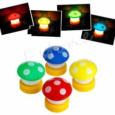 New LED Mushroom Press Down Touch Lamp Night Light Gift Valentine's Day Decor