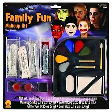 NEW Family Fun Makeup Kit Rubie's 19302 Scar Wax Fake Blood Glitter Makeup Tray