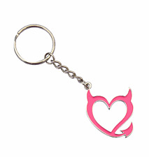 Pink Devil Heart Key Chain Keyring Bad Girls Club Cute Keychain