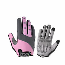 RockBros Autumn Winter Warm Full Finger Gloves Touch Screen Gloves Pink Size M