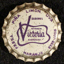 VICTORIA SABROSOS GRAY CORK SODA BOTTLE CAP CROWN TIJUANA BAJA CALIFORNIA MEXICO