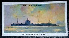 I - 21   Japanese Mine Laying Submarine     Vintage Card  VGC