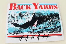 Back Yards Windsurfer Hawaii Surfboards Vintage Hawaiian Decal Surfing Sticker