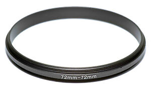 Coupling Ring Male-Male Thread 72-72mm Double Lens Reverse Macro Adapter