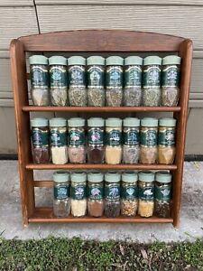 Vintage Schilling McCormick Spice Rack w/ 23 Bottles of McCormick Spices