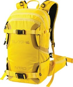 Nitro Snowboards Slash 25 Pro Snowboard and Ski Carry Backpack 25L Cyber Yellow