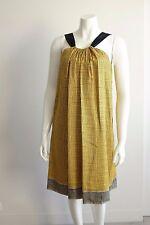 Lisa Ho Silk Golden Yellow Sleeveless Shift Party Dress Size AU 6 US 2  AH1