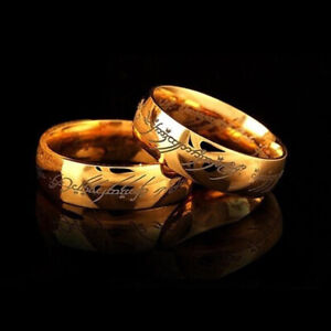 Titanium Lord of The Rings The One Ring Men's Fashion Jewelry Gift Size 6-12