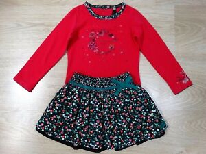 Catimini Designer Girls Cord Floral Skirt and Top Set Age 1.5 - 2 Size 2