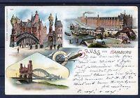 Litho Ansichtskarte Gruss aus Hamburg - 00572