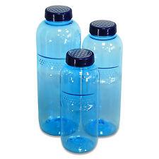 Trinkflaschen-Set aus Tritan 0,5, 0,75 & 1 L. Mehrweg Flasche Blume des Lebens