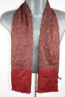 Vintage  Pure Silk Wool Blend Mod Scarf retro mens womens cravat foulard *1278