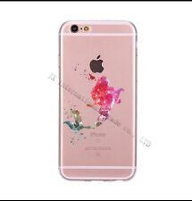Disney Ariel Little Mermaid  Clear Silicone Gel Case For iPhone 7 Or 8. Birthday