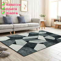 Modern Design Large Anti-Skid Carpet Rugs Soft Living Room Floor Bedroom Mat