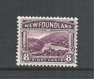 NEWFOUNDLAND SCOTT 137 MH F/VF - 1923/24 8c DULL VIOLET ISSUE   CV $5.00