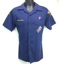 Boy Scouts of America Blue Shirt Youth Size XL Poly Cotton Short Sleeve w/ Patch