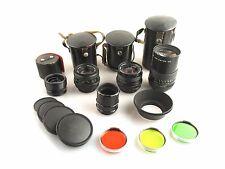 M42 Set Pentacon 1,8/50 + 2,8/29 + 2,8/135 + accessoires/Prime Lens Set