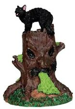 Lemax 2017 Spooky Town Figurines Spooky Woods Tree Stump With Black Cat #54915