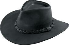 Hatquarters USA Henschel Hat Hut Western Cowboy Herren schwarz echt Leder Gr. S