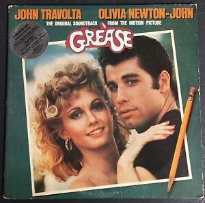 Grease Soundtrack Vinyl Record LP Album (RSO, 1978) RS-2-4002 Hype Sticker