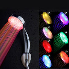 Neu LED Duschkopf 7 Farben Duschbrause mit Licht Farbwechsel Brausekopf DHL