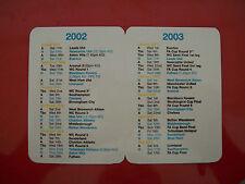 Manchester City Football Fixture Cards & Lists