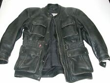 Vintage FIELDSHEER Men's Black Biker Touring Leather Jacket Size 40