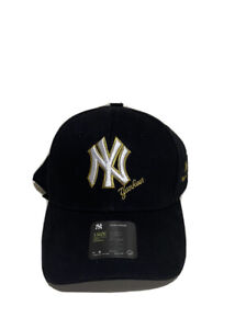 New York NY Yankees MLB Hat Black Logo White/Gold One Size NWT