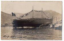 CARTOLINA 1911 VARO CORAZZATA CONTE DI CAVOUR RIF 1920